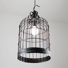 reminisced birdcage pendant light living room dining table inside bird cage lamp decorations 2