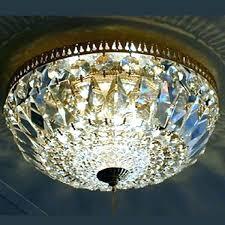 flush crystal chandelier mount basket semi bronze french empire gold