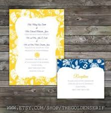 classic stripes make a cool modern design yellow and blue vow Wedding Invitations Navy And Yellow yellow and blue wedding invitation set navy blue and yellow wedding invitations