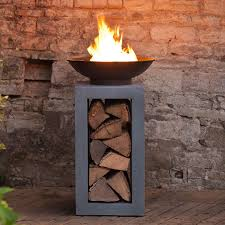 take a look at our fire bowl with square cement fibre stand log holder from the hing today free fast delivery available fuss free returns