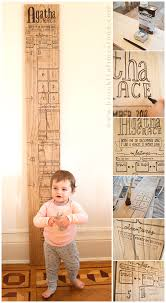 How To Mark A Wooden Growth Chart Wooden Baby Growth Milestone Chart Brooklyn Limestone