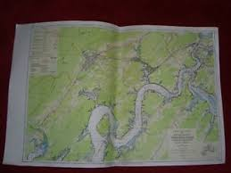 Tennessee River Navigation Charts Details About 1960 Tva Tennessee River Navigation Chart Mile 548 571 Watts Bar Reservoir