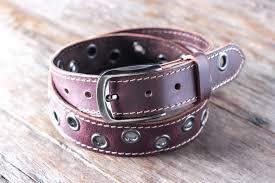 mens leather belt title