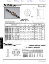 Stub Acme Thread Dimensions In Bronze Nuts Inch By Techno Inc