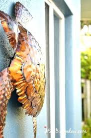 outdoor turtle decor tutorial to hang wall art without nails or tools on stucco siding metal
