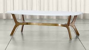 brass coffee table. Elke Rectangular Marble Coffee Table With Brass Base + Reviews | Crate And Barrel