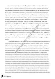 piaget and vygotsky essay educ education the psychological  piaget and vygotsky essay