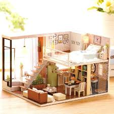 building doll furniture. Building Dollhouse Furniture Doll House Wooden Houses Miniature Kit Toys For Children Gift A