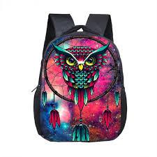 12 Inch Dream Catcher Enchanting 322 Inch 32d Print Backpack Cartoon Owl Dream Catcher School Backpack
