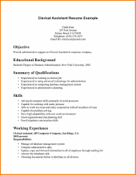 Resume Clerical Job Resume Samples Medical Administrative