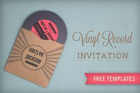invitation download template totally free totally rockin diy vinyl record wedding invitation