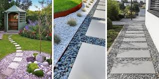 how to make garden paths from wood stone gravel