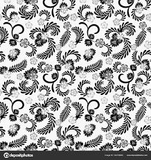 シンプルな花柄編集および再描画します白地に優雅な花グレー
