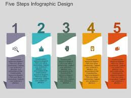 Infographic For Powerpoint Five Steps Infographic Design Powerpoint Templates