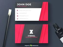 Free Download Editable Business Card Templates Red Corporate Wedding