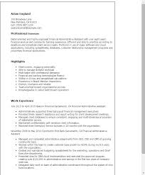 Administration Officer Sample Resume Stunning 44 Financial Administrative Assistant Resume Templates Try Them Now