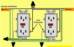 gfci wiring diagram series wiring multiple outlets in series diagram images multiple outlets outlet wiring diagram further gfci in series