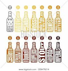 Srm Chart Beer Bottle Lettering Vector Photo Free Trial Bigstock