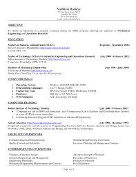 Mechanical Engineering Resume Objective Career Design Engineer Cv