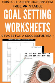 Goal Setting Worksheets How To Set Goals Every Year