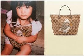 gucci bags kids. chinese tv show host li xiang\u0027s baby girl, angela wang with her gucci bag. (image via tencent fashion) bags kids