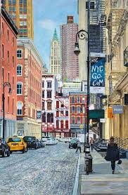 taxi painting pearl paint c st from mercer st nyc by anthony butera