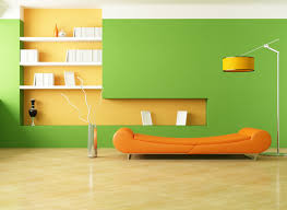 interior decoration. Decorating Cool Interior Design Of An Ice Cream Shop With Green Pleasant Home Ideas Orange Wall Decoration