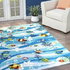 fish area rug blue tropical starfish 5x8 home starfish