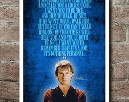 Roadhouse Quotes Unique Road House Movie Poster Art Patrick Swayze Minimalist Film Etsy