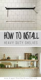 to install heavy duty floating shelves