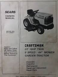 sears craftsman gt 18 twin 6sp 1988