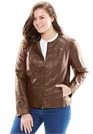 """Képtalálat a következőre: """"faux leather brown jacket plus size"""""""