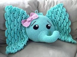 elephant rug crochet pillow round pottery barn elephant rug