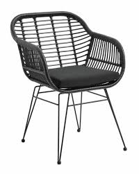 nordal black wicker outdoor chair nordal