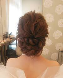ヘアアレンジヘアセットヘアスタイル ヘア編み込み結婚式花嫁準備