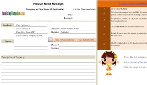 Rent Receipt Form House Rent Receipt Template