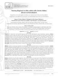 Nanda Nursing Diagnosis Pdf Nursing Diagnosis In Older Adults With Chronic Kidney