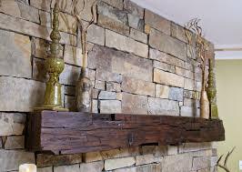 vintage fireplace mantle hand hewn 01