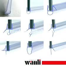 shower door rubber seal replacement seals glass frameless