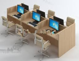 office table models. Office Desk With Computer Free 3dmax Model Table Models S