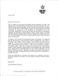 Memo To Board Of Directors Grove Isle Board provides update regarding 100 litigation case 62