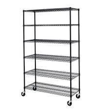 details about shelving unit 6 tier wire rack non rolling stationary 3000 lbs weight capacity