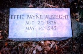 Effie Catherine Payne Albright (1876-1945) - Find A Grave Memorial |  Catherine, Grave memorials, Memories