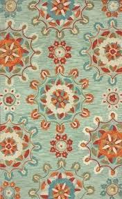 turquoise and orange rug wonderful blue area rugs furniture magnificent bath