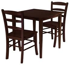 groveland 3 piece set square dining table with 2 chairs