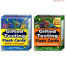 gifted testing flash cards 2 pack verbal and spatial concepts for pre k 2nd grade practice for cogat test olsat test nnat test nyc gifted and