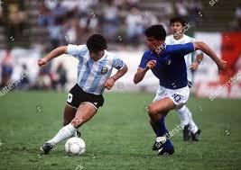 Diego Maradona Argentina Antonio Di Gennaro Italy Editorial Stock Photo -  Stock Image