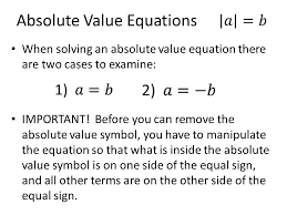 6 absolute value equations when solving