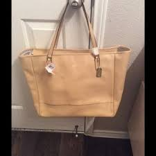 Coach Saffiano leather Large City Tote