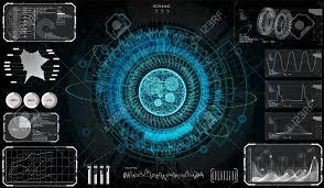 Sci Fi Chart Futuristic Sci Fi Modern User Interface Set Abstract Hud Hologram